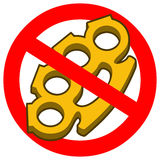No Brass Knuckles Royalty Free Stock Images