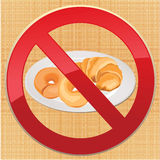 No bread - gluten free icon  illustration Royalty Free Stock Images
