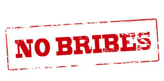 No bribes. Rubber stamp with text no bribes inside,  illustration Royalty Free Stock Photography