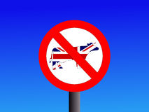 No British Beef Sign Stock Photo