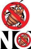 No bugs. Stop bug sign. Icon for design or logo Royalty Free Stock Image