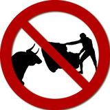 No bullfighting. Desire for part of the population to suppress bullfighting Stock Photography