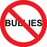 No bullies sign Royalty Free Stock Photos