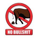 No Bullshit Sign. Vector illustration of a no bullshit sign Royalty Free Stock Images
