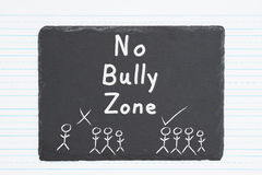 No bully message and graphic Stock Photography