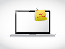 No bullying post over a laptop. illustration. Design over a white background Stock Photography