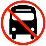No buses allowed Royalty Free Stock Photos