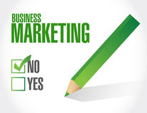 No Business Marketing sign concept Stock Photography