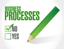 No business processes check sign concept Royalty Free Stock Photos