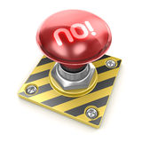No! button Royalty Free Stock Photography