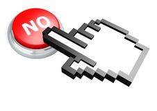 No button with hand cursor Stock Photography