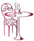 No café Ilustração Royalty Free