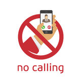 No calling  Royalty Free Stock Photo