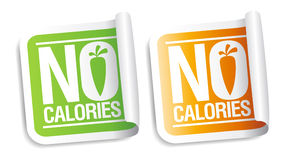 No calories stickers. Stock Photos