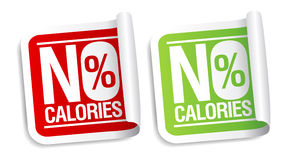 No calories stickers. royalty free illustration