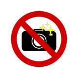 No camera no photo vector sign Royalty Free Stock Image