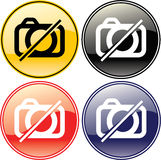 No Camera Picture Allowed Label Sign Symbol Royalty Free Stock Photos