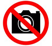 No camera prohibited banned forbidden Royalty Free Stock Photo