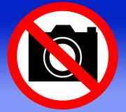 No camera prohibited banned forbidden Royalty Free Stock Photos