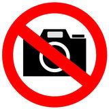 No camera sign Stock Image