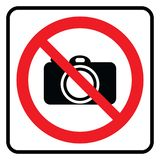 No Camera sign vector illustration