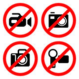No camera Sign great for any use. Vector EPS10. Stock Images