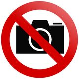 No cameras Royalty Free Stock Images