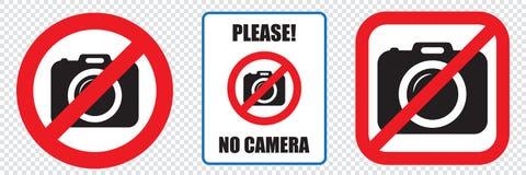 No cameras allowed sign. Prohibition no camera sign. No taking pictures, no photographs sign. No cameras allowed sign, EPS8. Red prohibition no camera sign. No royalty free illustration