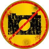 No cameras, warning sign Stock Photography