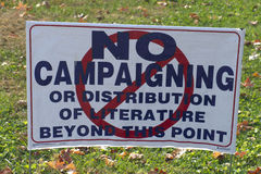 No Campaigning Sign Royalty Free Stock Photography