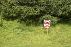 No camping allowed Stock Images