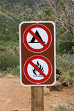 No camping no fires sign Stock Image