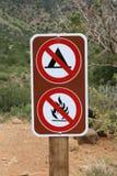 No Camping No Fires Sign Stock Image