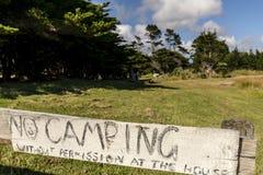 No Camping Sign Royalty Free Stock Images
