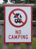 No camping sign Royalty Free Stock Photo