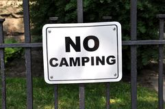 No camping sign Royalty Free Stock Image