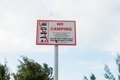 No camping sign Royalty Free Stock Photo