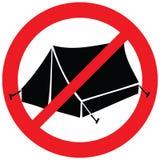 No camping sign Royalty Free Stock Photos
