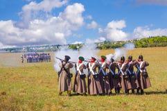 No campo de batalha Imagem de Stock Royalty Free