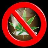 No cannabis stock illustration