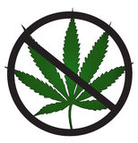 No cannabis allowed Stock Photo