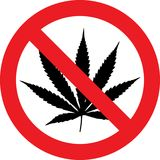 No cannabis sign vector illustration