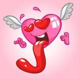 No caráter do coração do amor Ilustração do vetor isolada Imagens de Stock Royalty Free