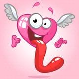 No caráter do coração do amor Ilustração do vetor para o dia de Valentim do St Fotos de Stock Royalty Free