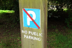 No car parking sign. Stock Photography