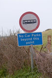 No Car Parks and No Buses sign Stock Photography