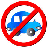 No car sign Stock Images