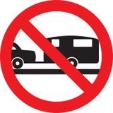 No caravan sign. No caravan allowed sign stock illustration