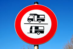 No caravans sign Royalty Free Stock Photography