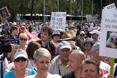 No Carbon Tax Rally Stock Photography